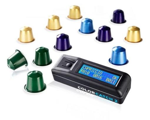 Control de calidad capsulas Nesspresso con colorimetro colorcatch 3